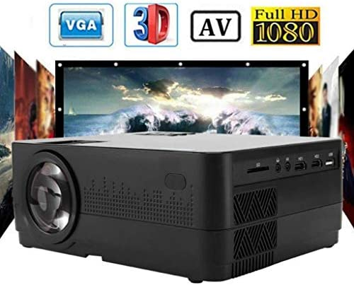 1080P Full HD Projector, LED Projector W/ ±45° Electronic