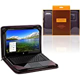 Broonel - Contour Series - Purple Heavy Duty Leather Protective Case Cover for theASUS 13.3 inch UX360 Zenbook Flip 360 Degrees Touchscreen Notebook