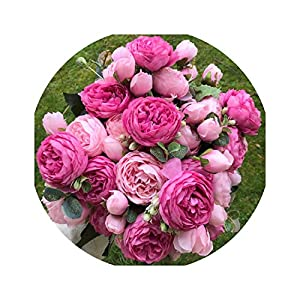Silk Rose Peony Artificial Flowers Beautiful Flores Bouquet for Wedding Party Home Decoration Fake Flowers 88