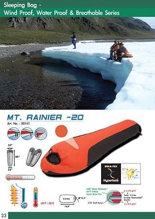 Momia saco de dormir: High Peak Mt. Rainier impermeable ~ Minus 20 Grado F. -20 grado F.: Amazon.es: Deportes y aire libre