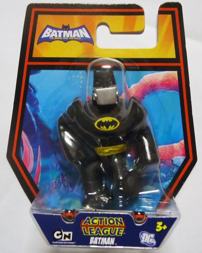 [DC Batman Brave and the Bold Action League Mini Figure Batman with Silver Gas Mask] (Toy Gas Mask)