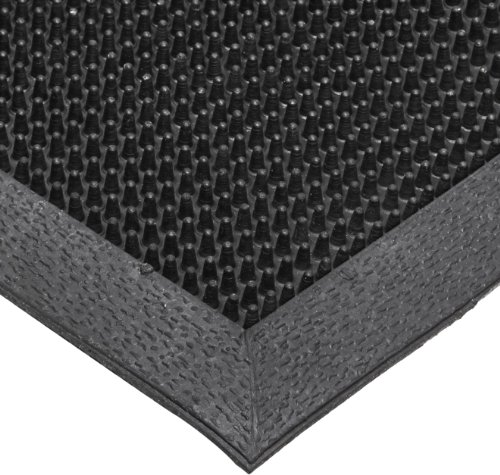 NoTrax T28 SBR Rubber Finger Scrape Entrance Mat, for Wet and Dry Areas, 24