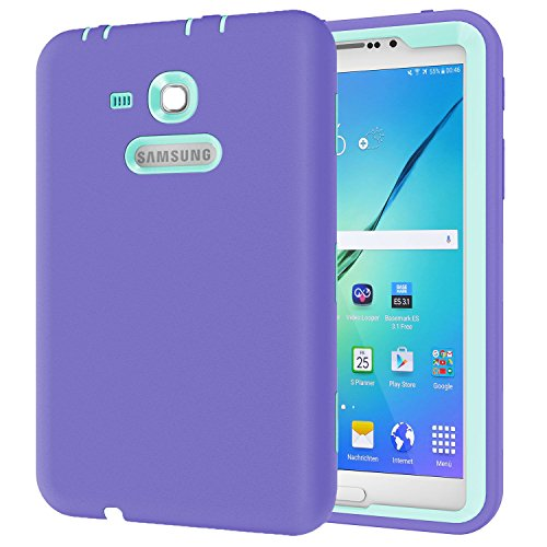 Ycxbox Samsung Galaxy Tab E 8.0'' T377 Case, Galaxy Rugged Heavy Duty Kids Proof Protective Case for SM-T377A / SM-T377V / SM-T377P (purple) by Ycxbox