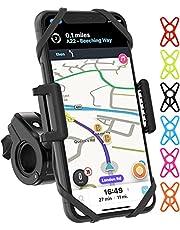 TruActive Premium Bike Phone Mount Holder, Motorcycle Phone Mount, Cell Phone Holder for Bike - Universal, Bike Phone Holder, Snowmobile, ATV - 6 Color Bands, Any Phone or Handlebar, Tool Free