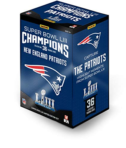 2018 Panini Instant New England Patriots Super Bowl LIII Champions Complete Trading Card Set (36 Cards) from Sports Memorabilia