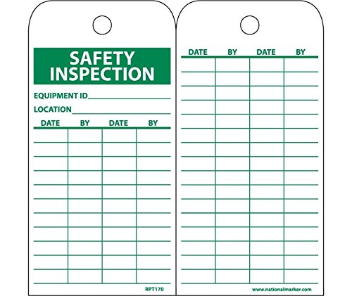 National Marker RPT170 Safety Inspection Equipment Id Tag