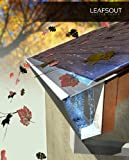 SAMPLE: Wide LeafsOut Micro Mesh Gutter Guard. Stainless steel Leaf Guard Gutter Covers shields out debris. Fits 7 inch rain gutter, 6 inches long.