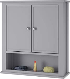 Ameriwood Home SystemBuild Franklin, Gray Wall Cabinet