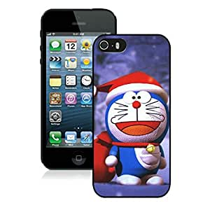 Custom Iphone 5S Protective Cover Case Christmas Doraemon iPhone 5 5S TPU Case 1 Black
