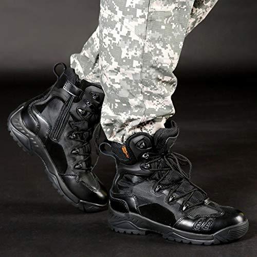 Forze Uomini Scarpe dell'Esercito degli Boot Combattono Combattimento Tactics di Gli Speciali Alpinismo da Top Le All'aperto Desert High Assault Terra Stivali di Black Addestrato tAdxqW