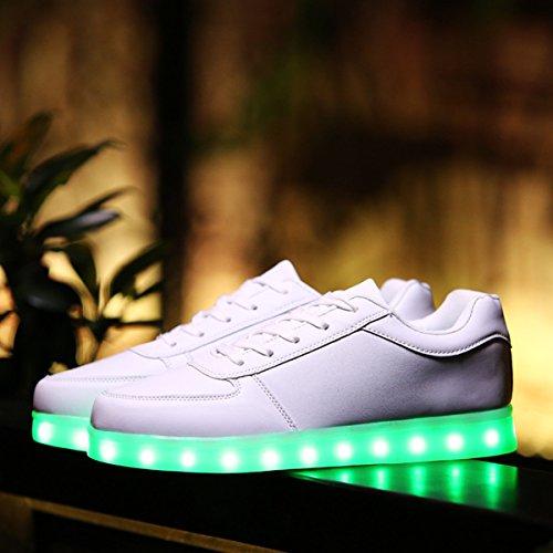 Dogeek Wit Oplichten Schoenen Led Schoenen Voor Kinderen Glow In Dark Shoes Led Schoenen Zwart Glanzend Schoenen Wit