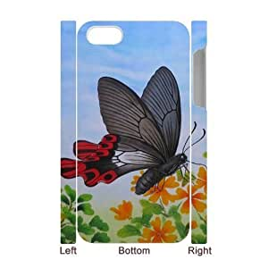 Butterfly Personalized 3D Case for Iphone 4,4S, 3D Customized Butterfly Case