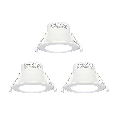 Lamparas Plafones Focos LED Empotrables de Techo 8W Downlight LED Blanco Frio 5000K Agujero Φ70-