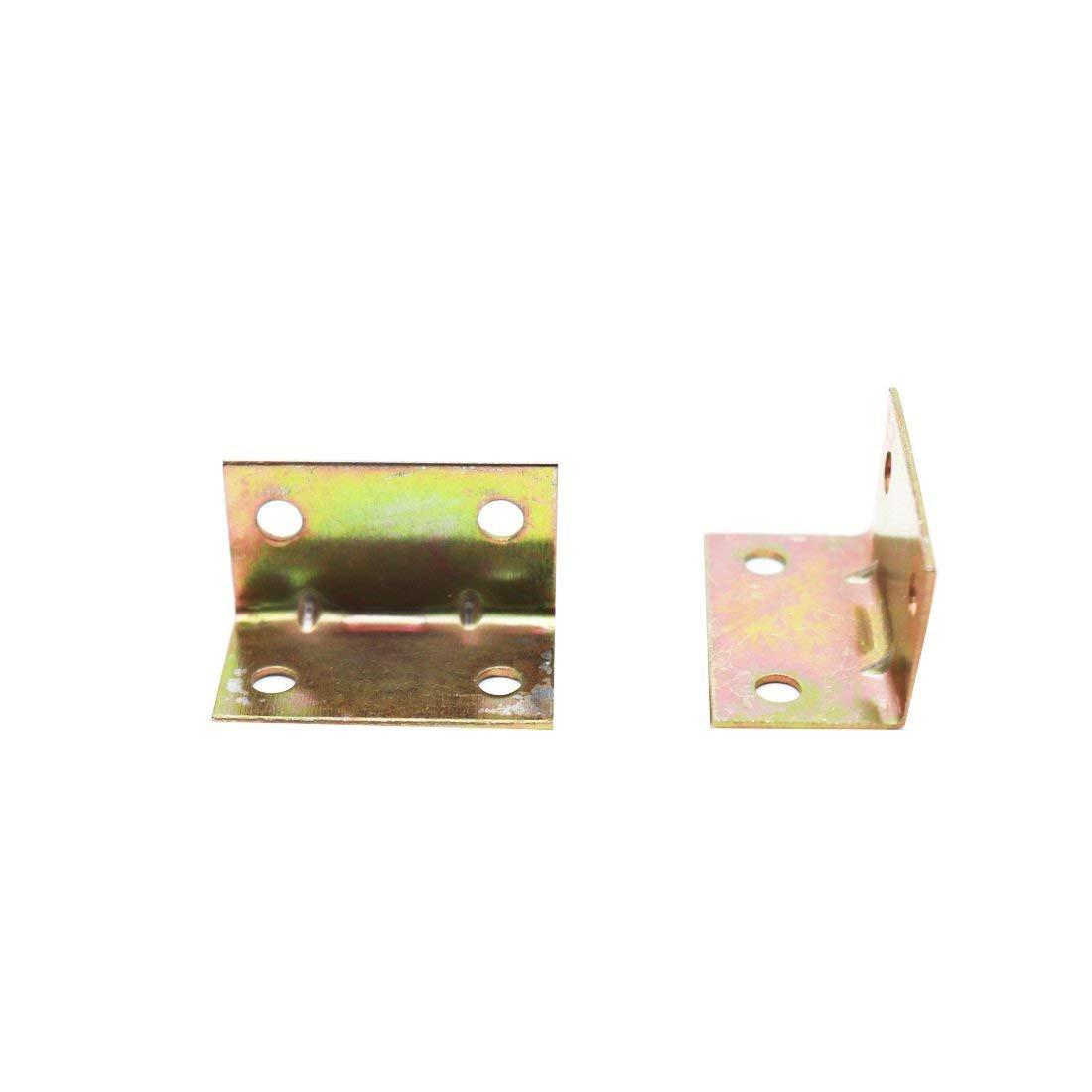 ZXHAO 17x17x30mm 0.67x0.67x1.18 inch 90 Degree Shelf Support Corner Brace 20pcs