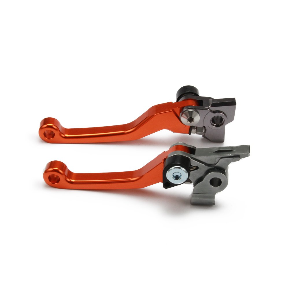 CNC Billet Pivot Brake Clutch Levers For KTM 250 300 350 450 500 SX SXF EXC EXCF XC XCF XCW 14-16 Orange