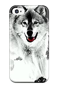 Waterdrop Snap-on Wolf Case For Iphone 4/4s