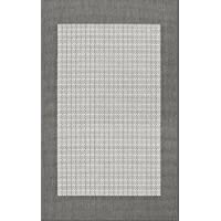 Couristan 1005/3012 Recife Checkered Field/Grey-White  3-Feet 9-Inch by 5-Feet 5-Inch Rug