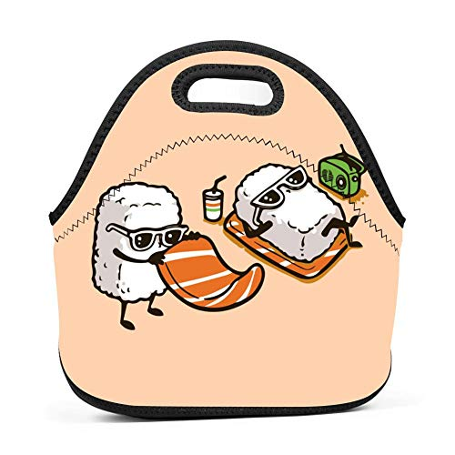 Cartonnn Funny Sushi Bento Boxes Washable Lunch Tote for sale  Delivered anywhere in USA