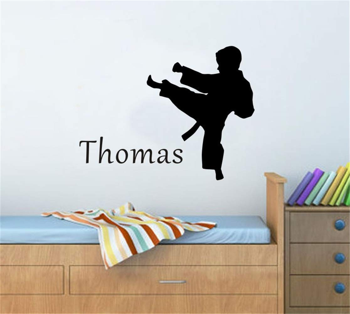Uyeai Quotes Vinyl Wall Art Decals Saying Words Removable Lettering Karate Martial Arts Personalized Name Customer Kids Room Art by Uyeai