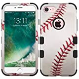 Wydan Compatible Case for iPhone 8, iPhone 7 - Tuff Hybrid Hard Shockproof Protective Heavy Duty Impact Skin Phone Cover - Baseball for Apple
