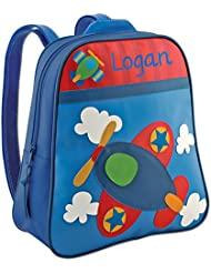 Personalized Stephen Joseph Go Go Airplane Backpack with Embroidered Name