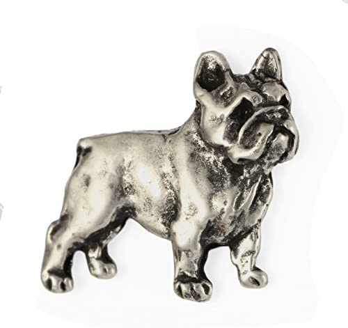 French Bulldog, Pin Metal Silver Plated Brooch, Dog Brooch, Animal Jewelry - ArtDog