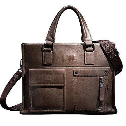 Mens Business Tote Handbag Doctor Leather Document Clutch Bag Strap by MXPBJ (Image #1)