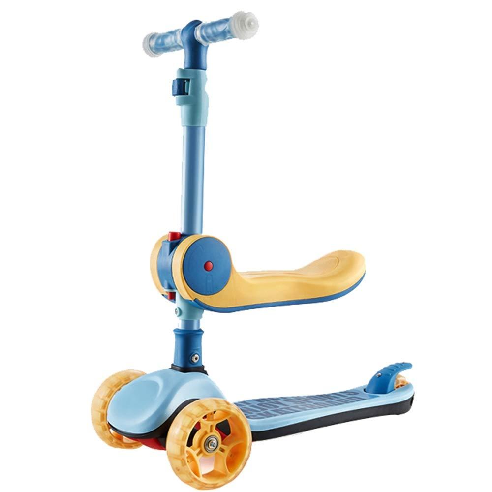 YUMEIGE キックボード本体 B07R52L8K3 キックスクーター3ホイール磁気フラッシュホイールスクーター用1-6年古い子供誕生日ギフト 黄) 利用可能 黄 (色 : 黄) 黄 B07R52L8K3, STUSSY:78f9f946 --- pallainfra.com