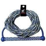 Kwik Tek Wakeboard Rope 15-Feet EVA Handle 3 Section