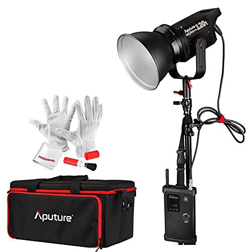 Aputure Light Storm COB 120t CRI97+ 3000K 135W Bowens Mount High Power LED Continuous Video Light with 2.4G Wireless Remote Control and A-Mount Battery Plate - Carrying Case Included