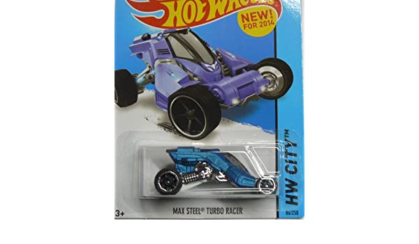 Amazon.com: Hot Wheels HW City - 86/250 - Max Steel Turbo Racer - Blue: Toys & Games