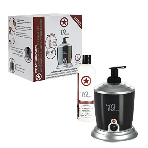 Wahl Professional '19 Hot Lather Machine #68908 – Professional Barber Quality Dispenser with Internal Liquid Pump, Bottle, Additional Bonus Liquid Pump, and 12 oz. Bottle of Pre-Mixed Liquid Lather