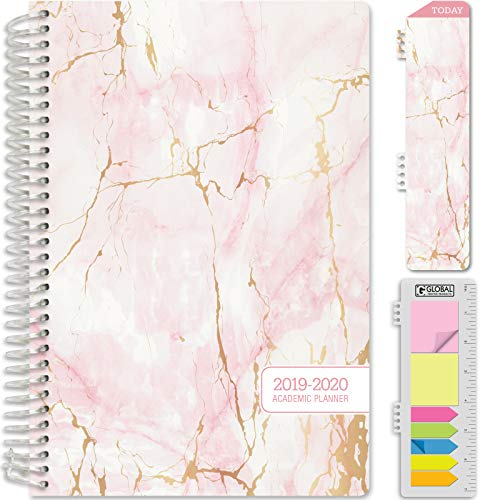 HARDCOVER Academic Planner 2019-2020: (June 2019 Through July 2020) 5.5
