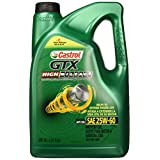 Castrol 03127 Aceite para Motor GTX HI Mileage 25W-60, 3X5QT, Color Verde, Mediano
