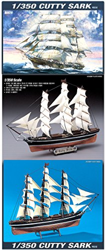 Academy 1/350 Cutty Sark Sailboat Boat Ship Plastic Model Kit #14110 from Academy Models
