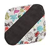 TraveT Washable Reusable Sanitary Cloth Menstrual Pads Overnight Long Panty Liners for Comfort and Support
