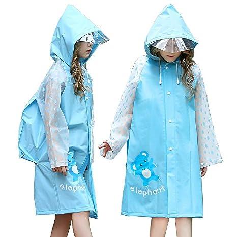 d09c48a0e3 YDYLZC- Impermeabili per bambini, impermeabile Impermeabile per bambini con  sacchetto impermeabile Impermeabile bambino Poncho
