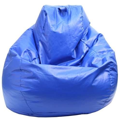 Gold Medal Bean Bags 30011209804TD Large Wet Look Vinyl Tear Drop Bean Bag, Blue