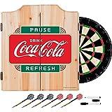 Trademark Gameroom COKE7010-PR Coca Cola Dart Cabinet Set with Darts & Board - Pause Refresh