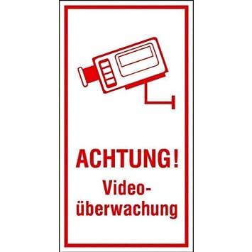 Achtung Videouberwachung Hinweisschild Selbstkl Folie Grosse