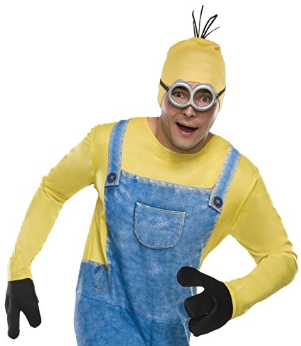 Rubie's Costume Co Men's Minion Stewart Headpiece, Yellow, One Size (Minions Movie: Minion Kevin Adult Costume)
