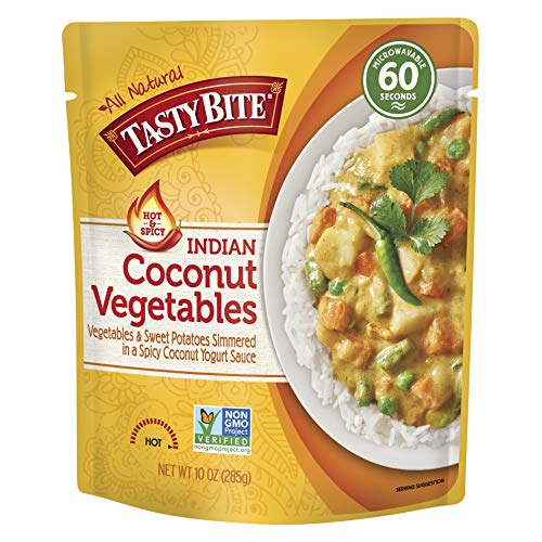 Tasty Bite Indian Entrée Hot & Spicy, Coconut Vegetables, 10 Ounce (Pack of 6)