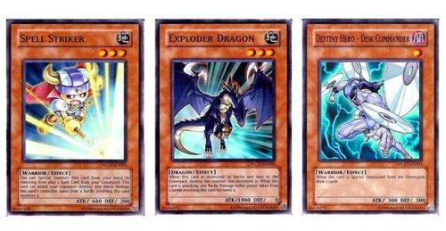 (Yugioh Gx World Championship 2007 Limited Edition Card Set of 3, Disk Commander, Exploder Dragon, Spell Striker)