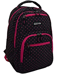 Kenneth Cole Reaction Contour-Shaped Laptop Backpack (Black With Pink Polka Dots)