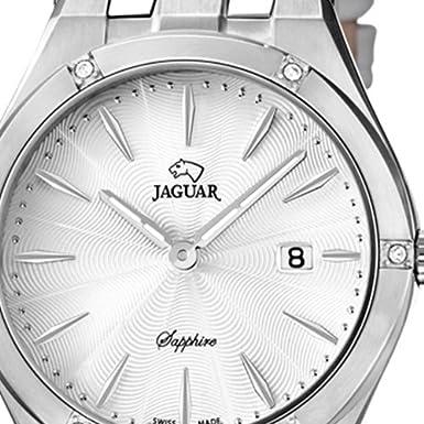 Armbanduhr Elegant Armband Weiß Damen Leder Uhr Quarz Jaguar Analog iTuwXZPOk