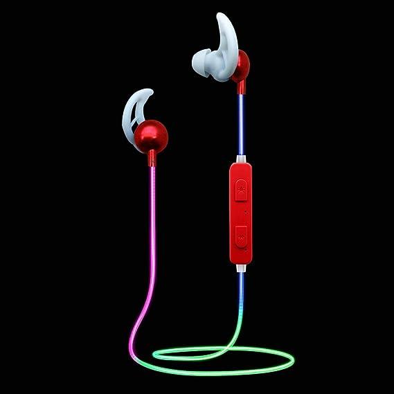 4f8d6809d18 Amazon.com: LED Bluetooth Headphones Light up Sport Glow in the Dark ...