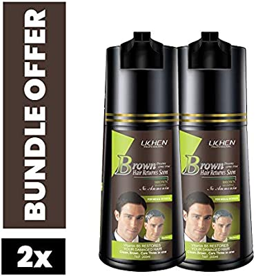 Lichen Shampoo Brown Hair Color 400 Ml 2 Pcs Bundle Buy Online At Best Price In Uae Amazon Ae