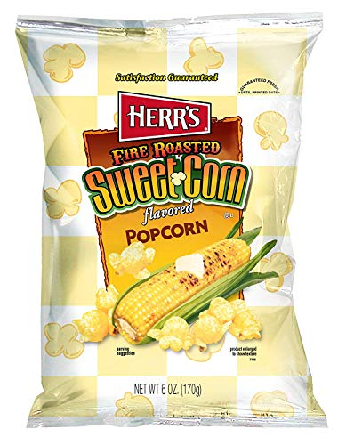 Herr's Fire Roasted Sweet Corn Popcorn, 6 Ounce (Pack of 9) (2 Pack (Pack of - 6 Corn Ounce