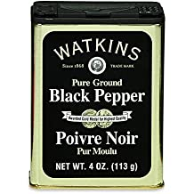 Watkins Pure Ground Black Pepper, 4 Ounce