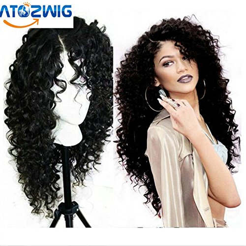 ATOZWIG Deep Curly Synthetic Lace Front Wig For Black Woman